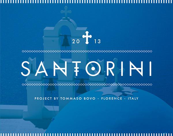 Santorini font sans serif project | www.tommasobovo.com