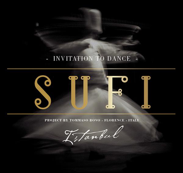 Istanbul sufi dance invite | type designer Tommaso Bovo | www.tommasobovo.com