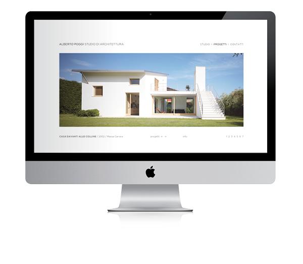 schermata sito Alberto Poggi | web design Tommaso Bovo