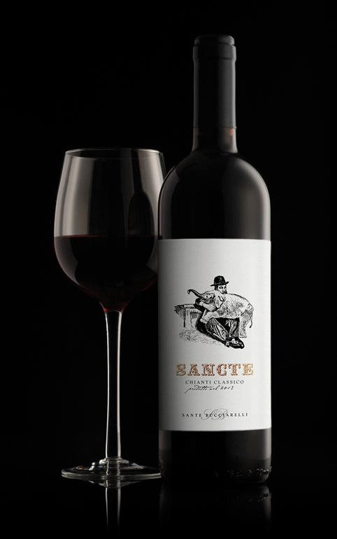 Etichetta vino chianti classico / Label red wine | graphic by www.tommasobovo.com