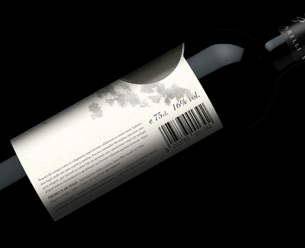 Back side of the wine label Chianti Classico | graphic design www.tommasobovo.com