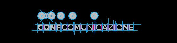 Costruzione geometrica logo Confcomunicazione | graphic Tommaso Bovo