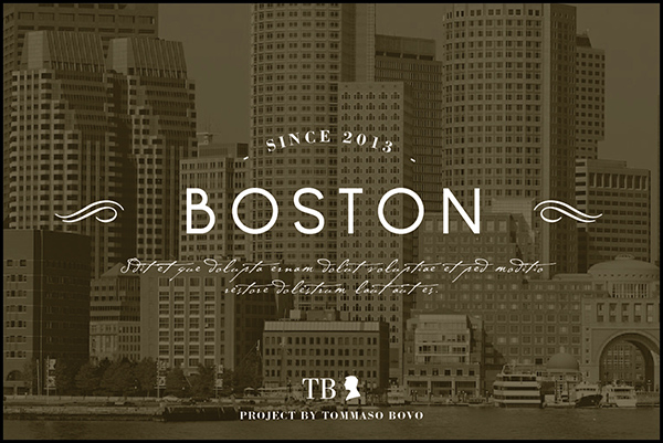Boston font picture postcard | graphic www.tommasobovo.com