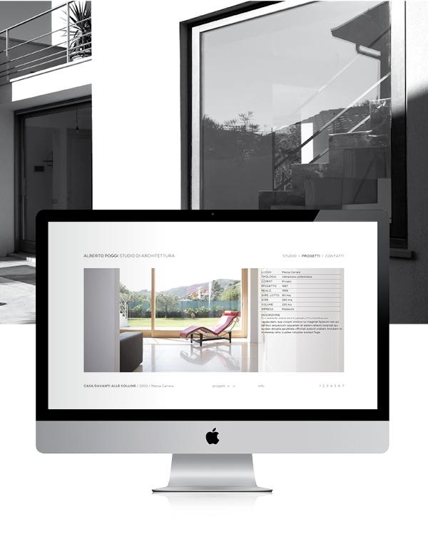schermata sito d'architettura | web design Tommaso Bovo
