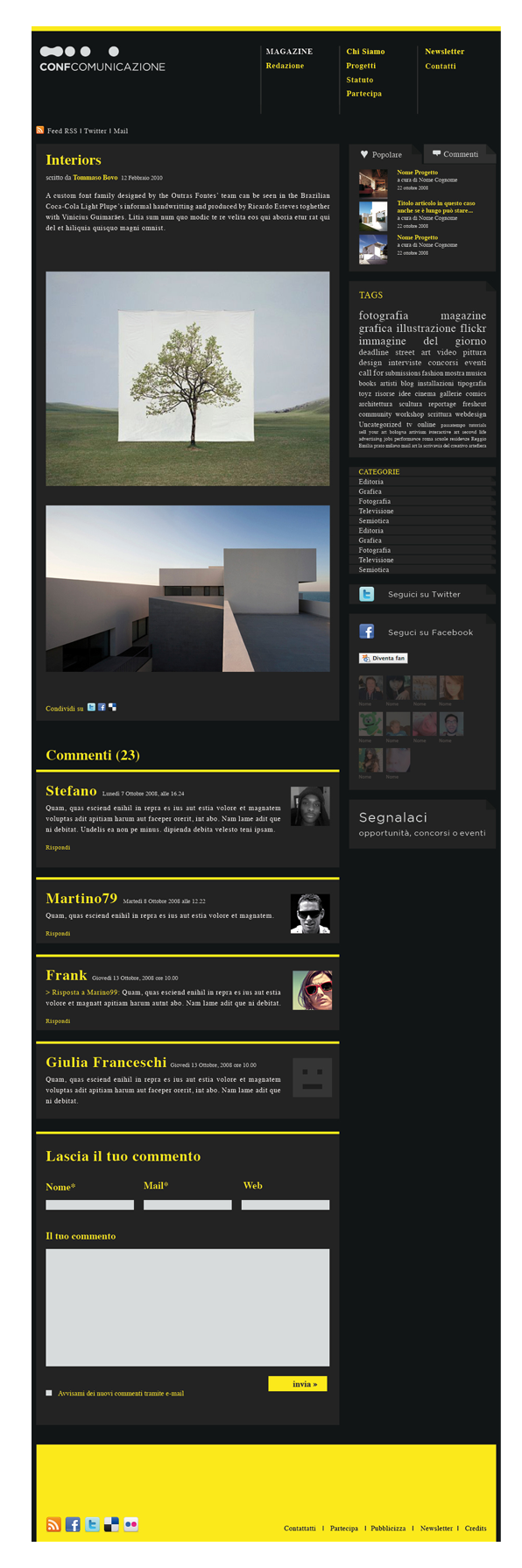 Layout web | graphic Tommaso Bovo