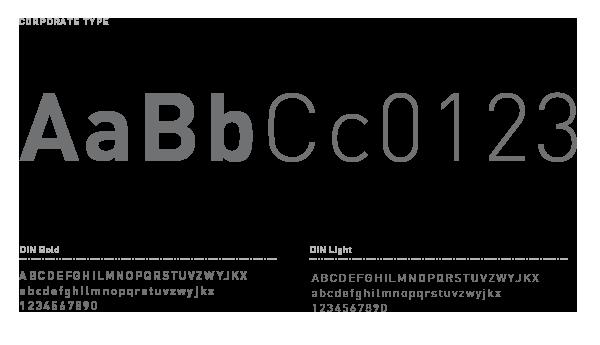 Carattere tipografico corporate identity DIN | www.tommasobovo.com