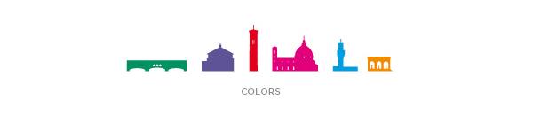 Cartella colori per logo Freya's Florence Tours | graphic design Tommaso Bovo | www.tommasobovo.com