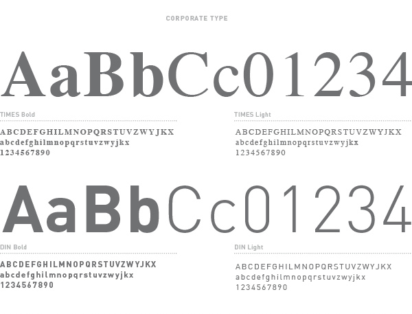 Corporate type Times Font and Din font | graphic design Tommaso Bovo | www.tommasobovo.com